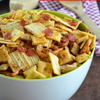 Pepperoni Pizza Snack Mix and Basketball Madness Date Night