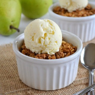 Easy Pear Crisp with Vanilla Bean Frozen Yogurt