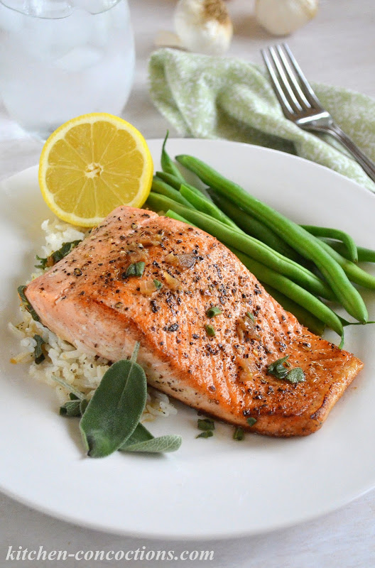 Pan Seared Salmon With Garlic Butter Sauce Kitchen