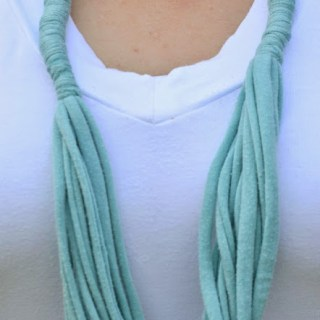 How To Make a Simple T-Shirt Necklace {Crafty Concoctions}