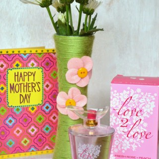 Yarn Wrapped Flower Vases and Affordable Mother's Day Gift Ideas