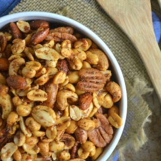Cajun Spiced Mixed Nuts {Plus Road Trip Snack Ideas and Travel Tips}