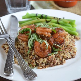 Sriracha Glazed Shrimp with Quinoa