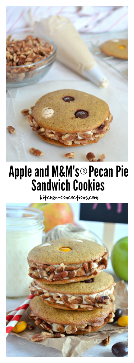 Apple and M&M's® Pecan Pie Sandwich Cookies