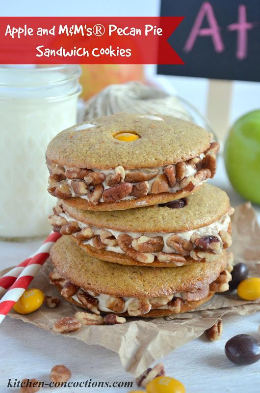 Apple and M&M's® Pecan Pie Sandwich Cookies