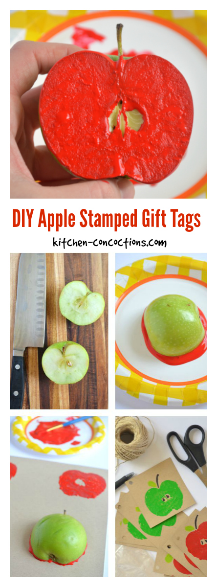DIY Apple Stamped Gift Tags