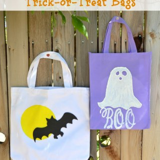 Easy DIY Glow in the Dark Trick-or-Treat Bags {Plus 8 Halloween Trick-or-Treating Safety Tips}
