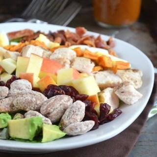 Fall Cobb Salad with Pumpkin Butter Vinaigrette