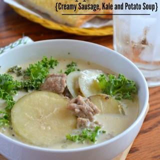 Zuppa Toscana {Creamy Sausage, Kale and Potato Soup}