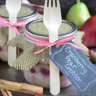 Cranberry Pear Cobbler {In a Jar}