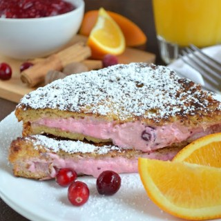 Cranberry Orange Stuffed French Toast