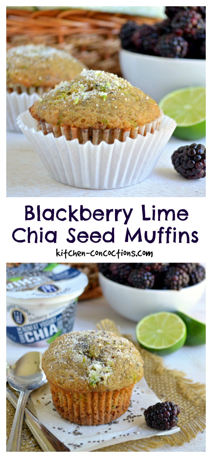 Blackberry Lime Chia Seed Muffin Recipe
