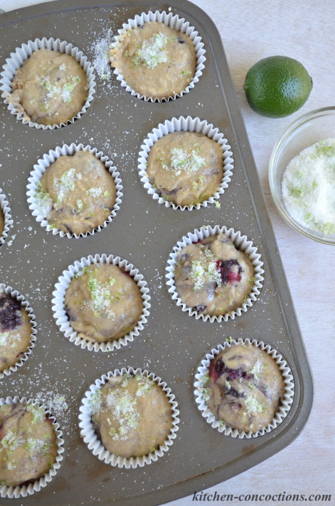Blackberry Lime Chia Seed Muffins