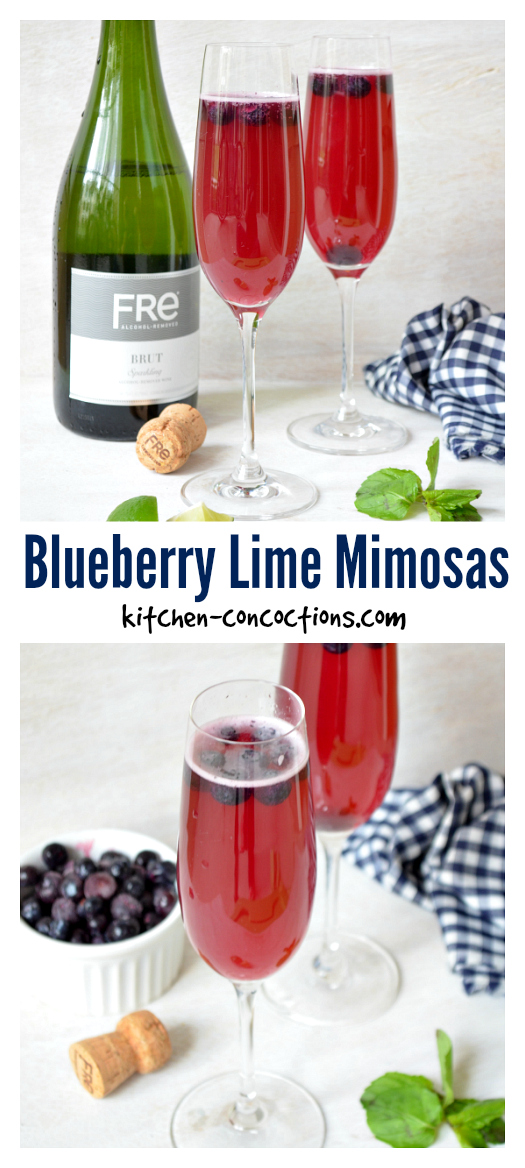 "Blueberry Lime ""Mock"" Mimosas recipe"