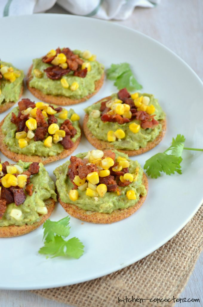 Bacon-Corn Avocado Toast
