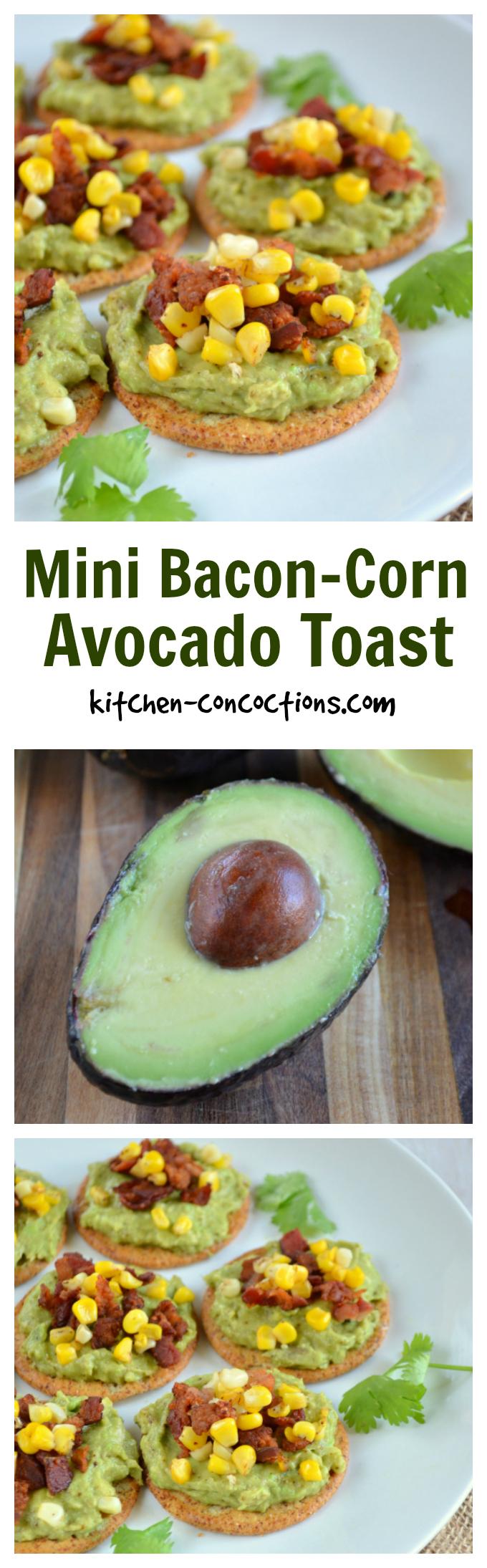 Bacon-Corn Avocado Toast