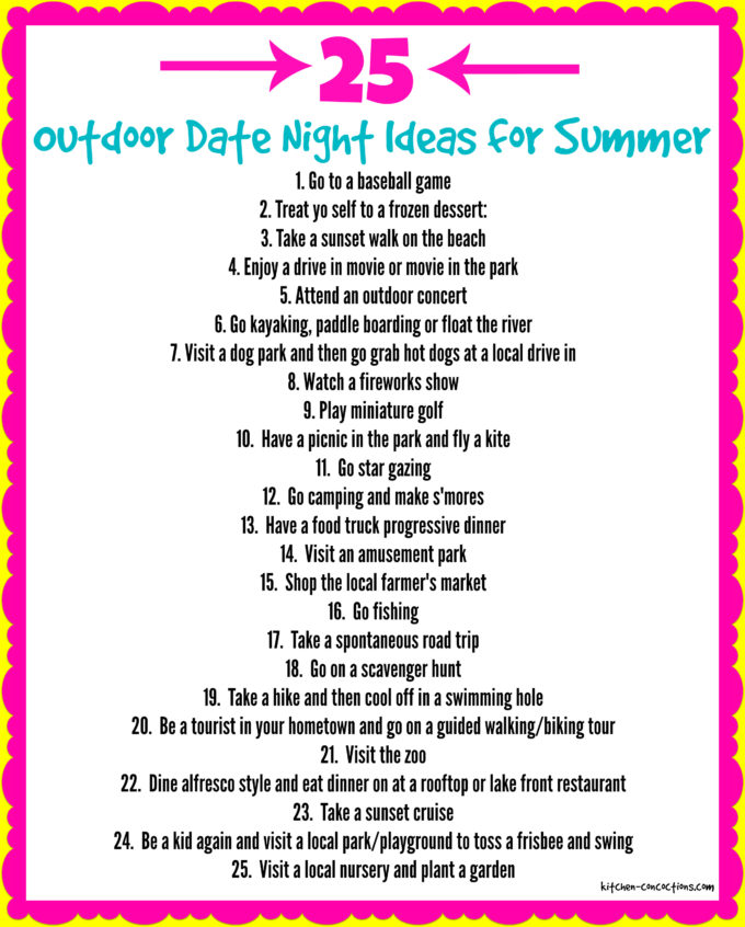 Outdoor Date Night Ideas for Summer