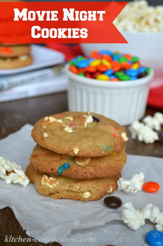 Movie Night Popcorn & M&M's® Cookies