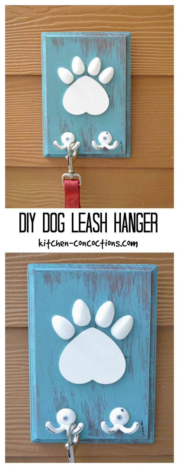 DIY Dog Leash Hanger
