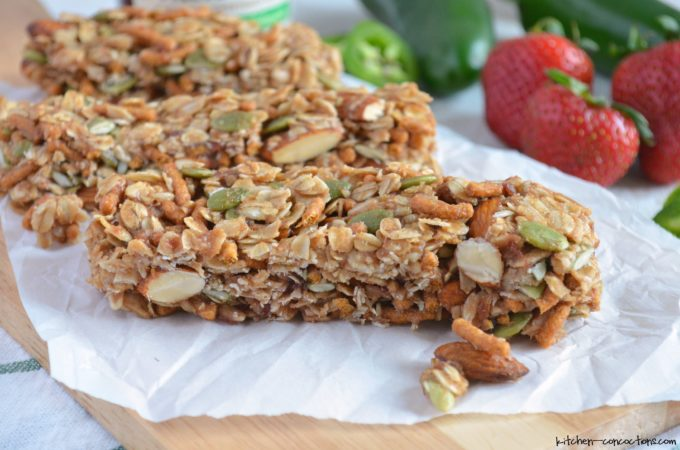 No Bake Sweet 'n' Spicy Granola Bars