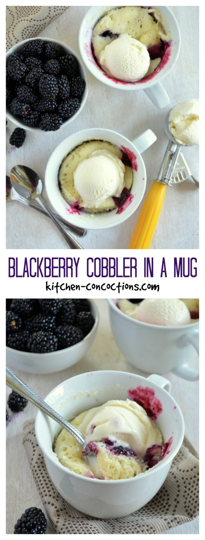Blackberry Cobbler in a Mug