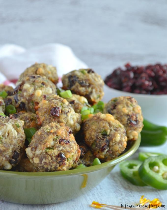 Jalapeno Cranberry Sausage Balls