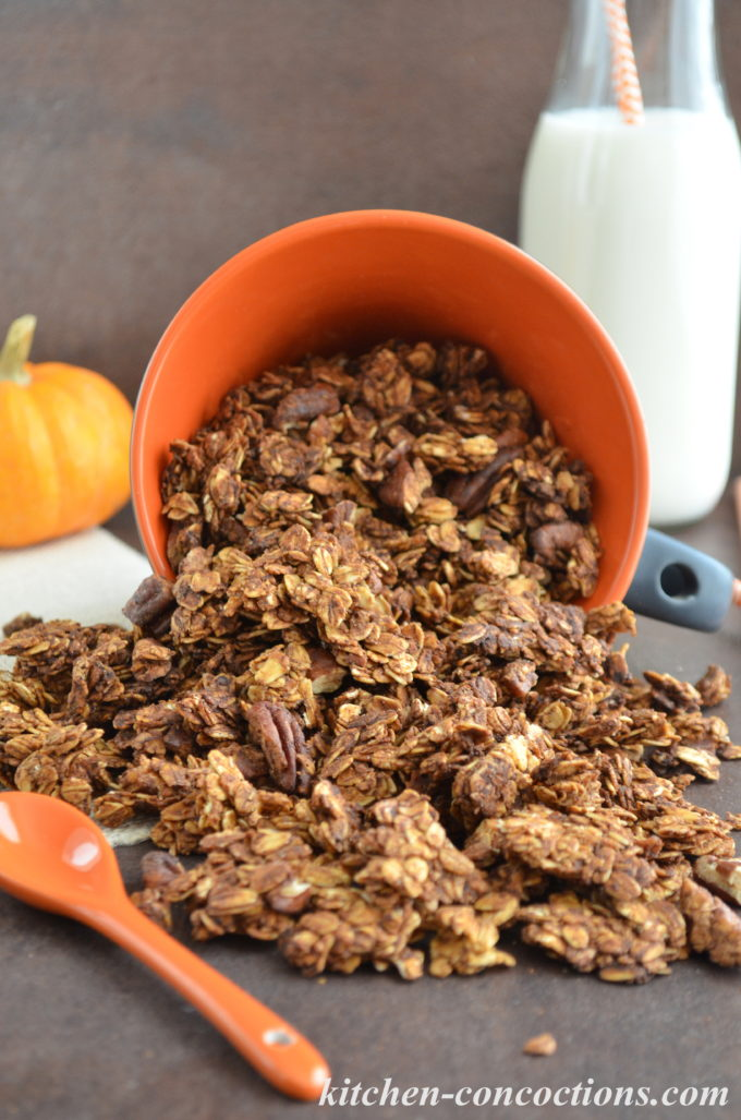 Pumpkin Butter and Pecan Granola