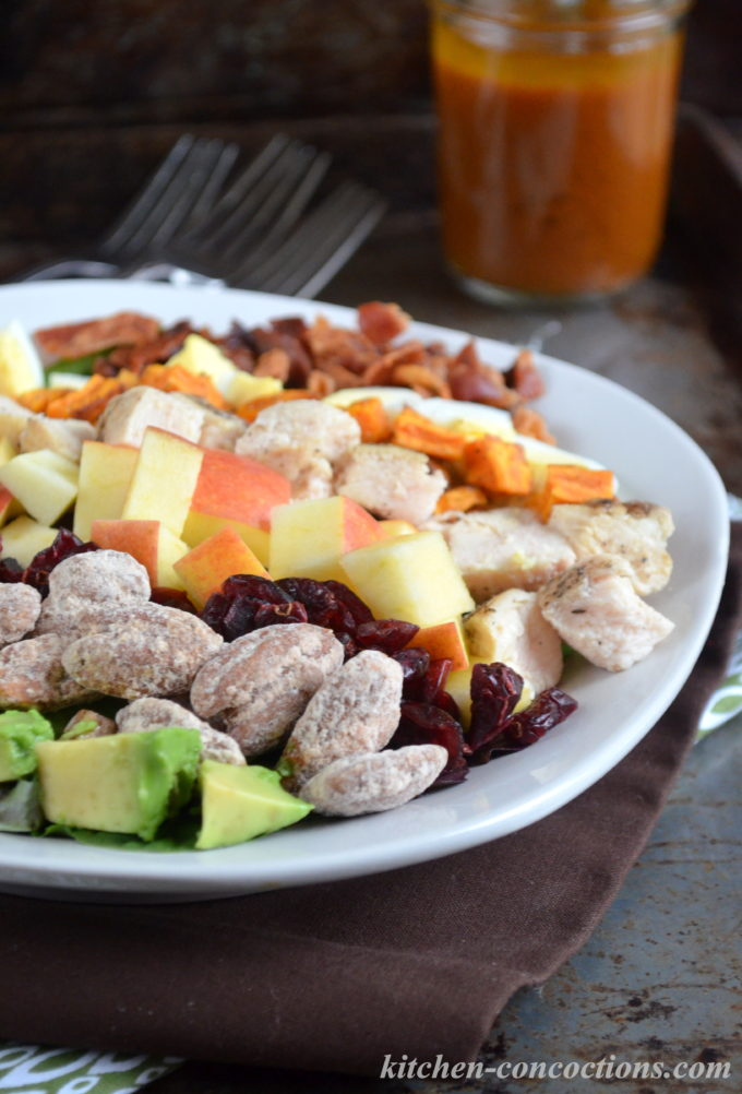 Fall Cobb Salad with Pumpkin Butter Vinaigrette
