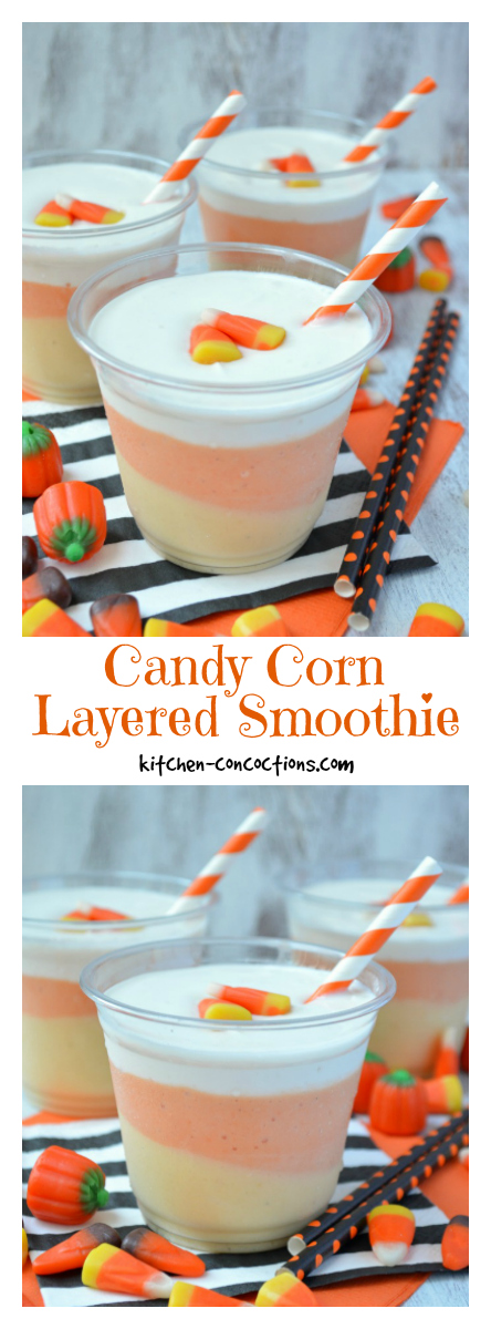Candy Corn Layered Smoothies