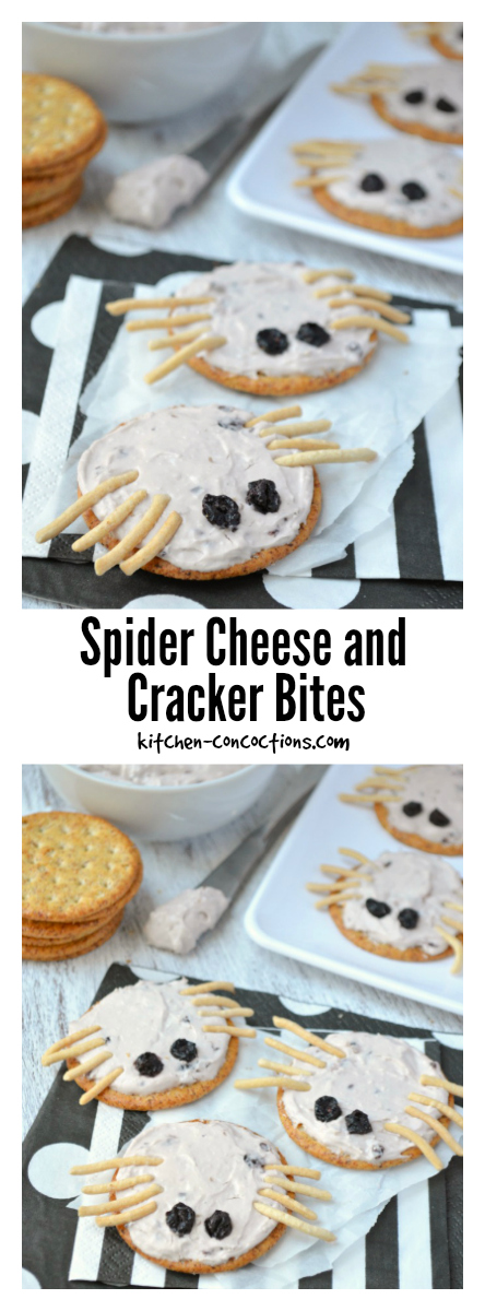 Spider Cheese and Cracker Bites