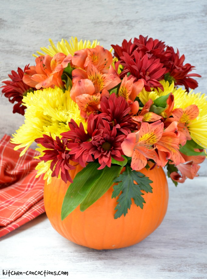 Pumpkin Flower Arrangement Tutorial