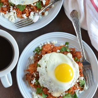 Bean and Chorizo Chilaquiles