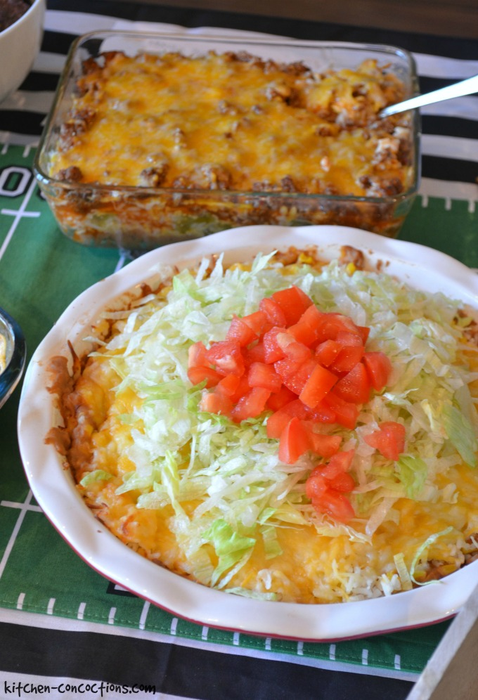 Hot 7 Layer Dip {Football Party Ideas}