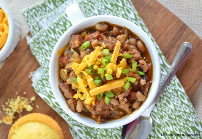 Cajun Pork and Black-Eyed Pea Chili