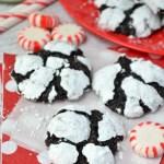 Peppermint Chocolate Truffle Cookies