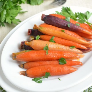 Hickory Bourbon and Brown Sugar Glazed Carrots