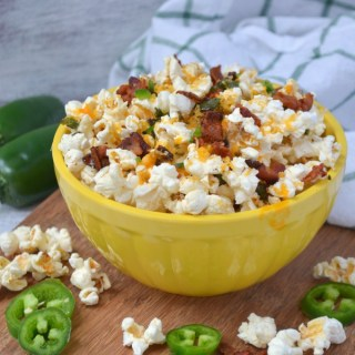 Jalapeno Popper Popcorn {Plus Video Game Date Night}