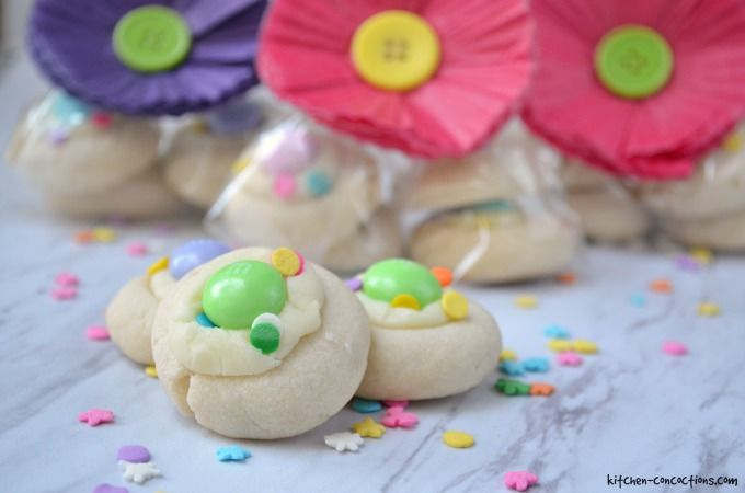 White Chocolate Thumbprint Cookies