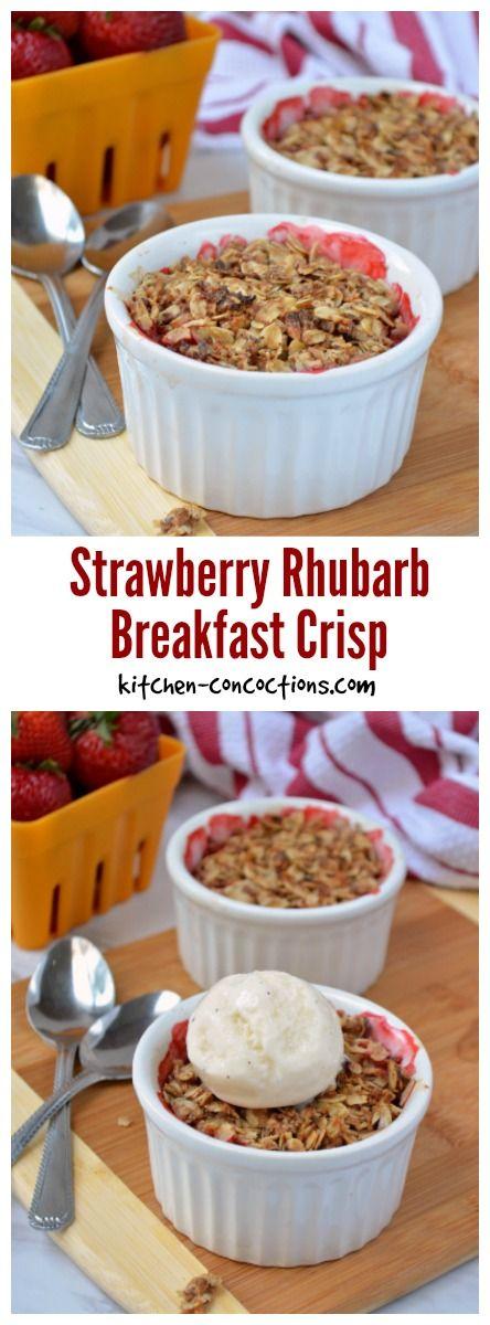 Breakfast Strawberry Rhubarb Crisp