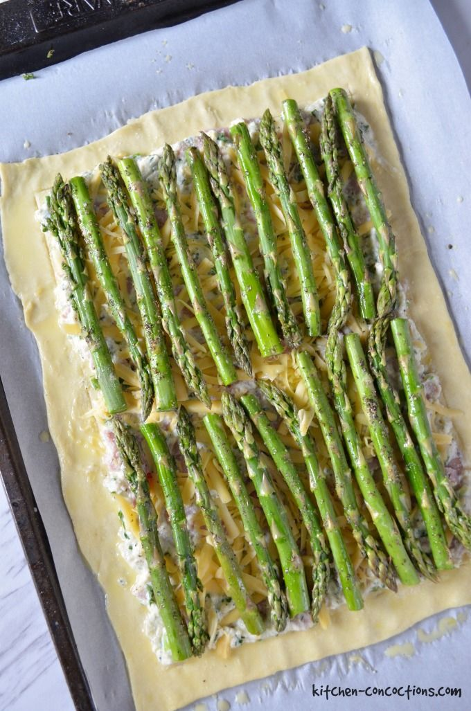 Ham and Asparagus Tart