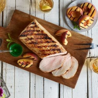 Grilled Marinated Pork Loin and Texas Peaches