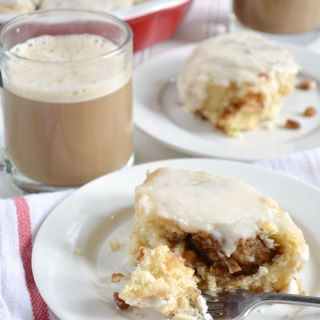 Maple Pecan Cinnamon Rolls