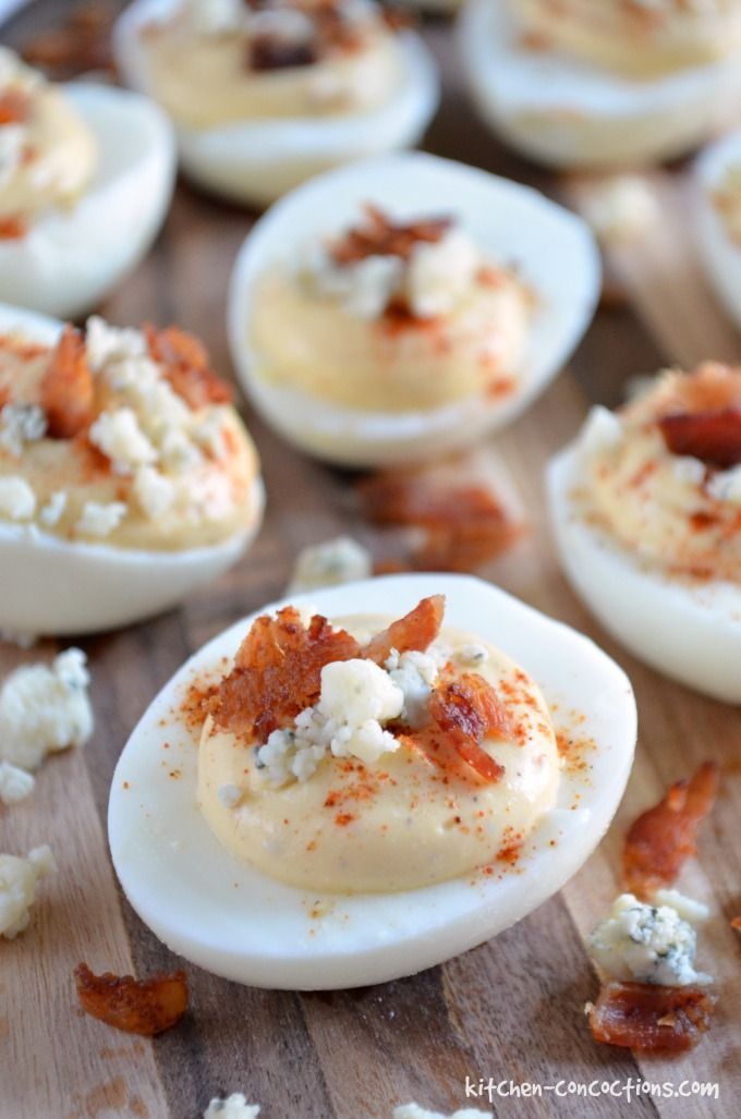 Blue Cheese and Bacon Deviled Eggs