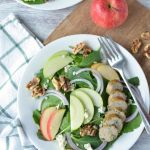 Celebrate the flavors of fall with this light and fresh dinner recipe, Sausage, Apple and Kale Salad, that can be made in under 20-minutes!