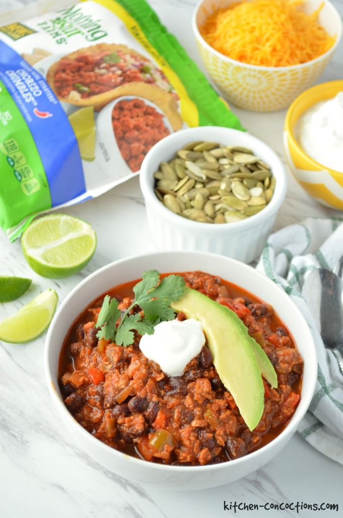 Chorizo and Black Bean Chili recipe