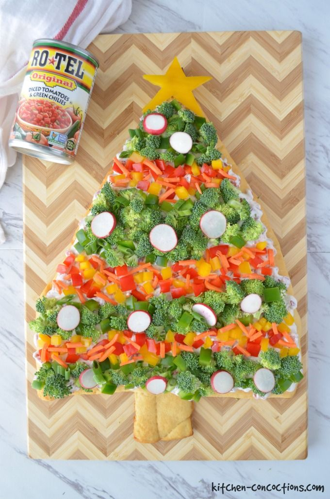 Christmas Tree Veggie Pizza