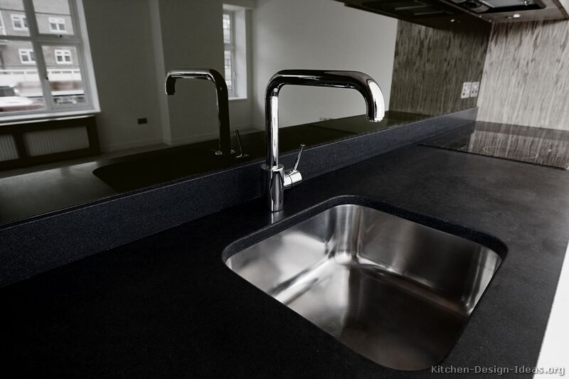 kitchen backsplash rolls standard sink size pictures of kitchens - modern black cabinets