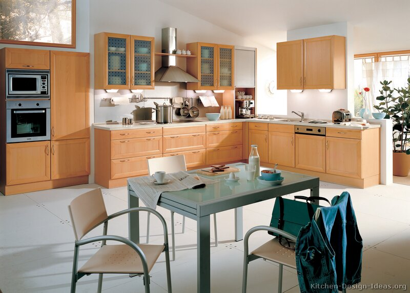 oak kitchen cabinet cabinetry modern light wood cabinets pictures design ideas