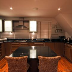Black Kitchen Island With Seating Ninja Pictures Of Kitchens - Modern Medium Wood ...