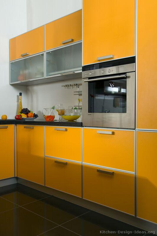 Pictures of Kitchens  Modern  Orange Kitchens Kitchen 1
